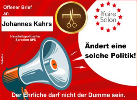 Offener Brief - Haushaltspolitischer Sprecher SPD