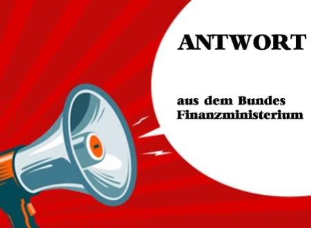 ANTWORT aus dem Finanzministerium