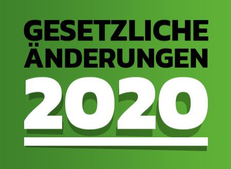 WICHTIG! NEUE AUFLAGEN AB 01.01.2020