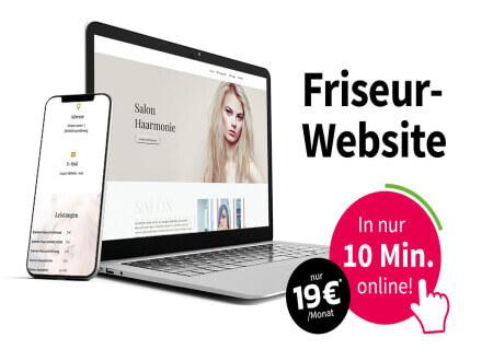 GÜNSTIGE, NEUE SALON-WEBSITE FÜR SIE!