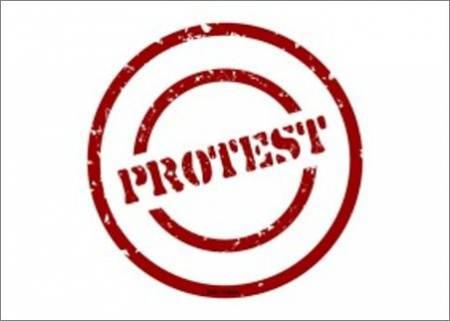 Das Plakat zum Protest