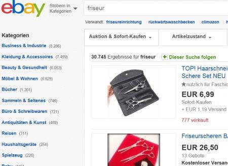 Friseure & Ebay